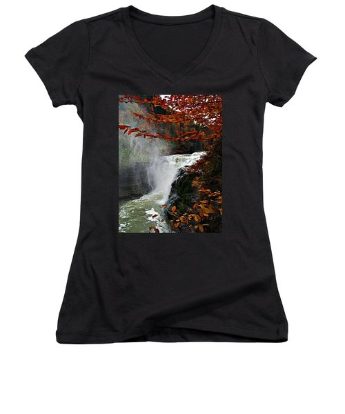 An Upper Letchworth Autumn Women's V-Neck (Athletic Fit)