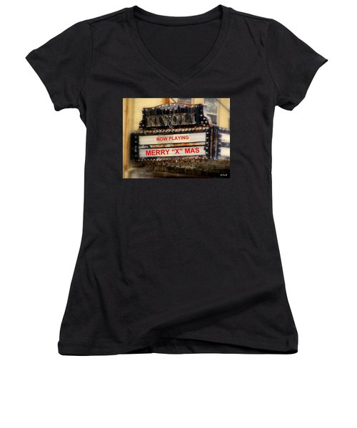 An X Rated Holiday Women's V-Neck T-Shirt