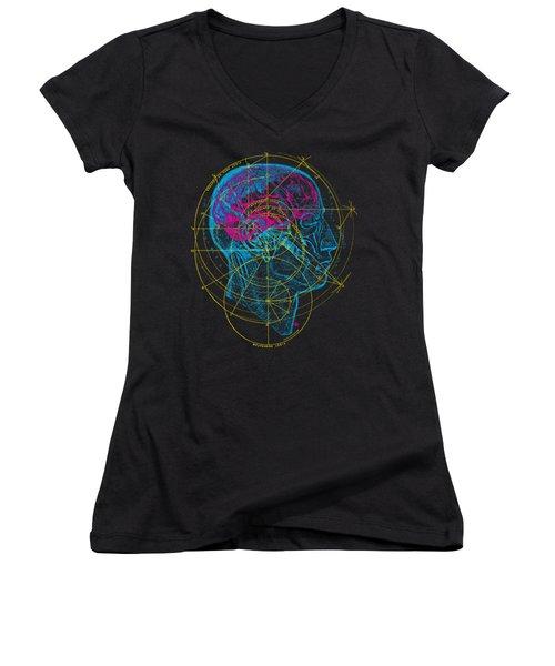 Anatomy Brain Women's V-Neck