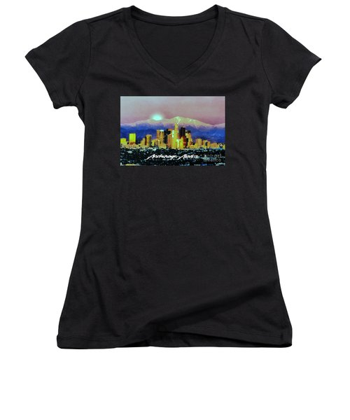 Anchorage-subdued Women's V-Neck (Athletic Fit)