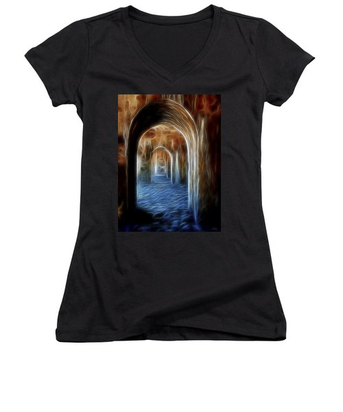 Ancient Doorway 5 Women's V-Neck T-Shirt
