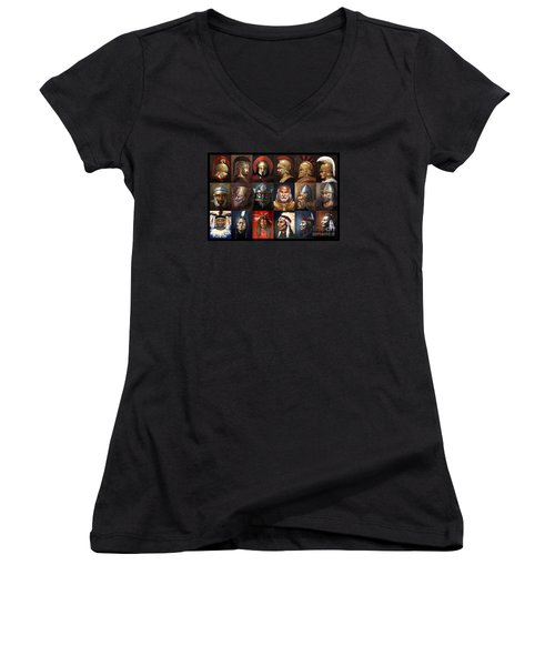 Ancient Warriors Women's V-Neck T-Shirt