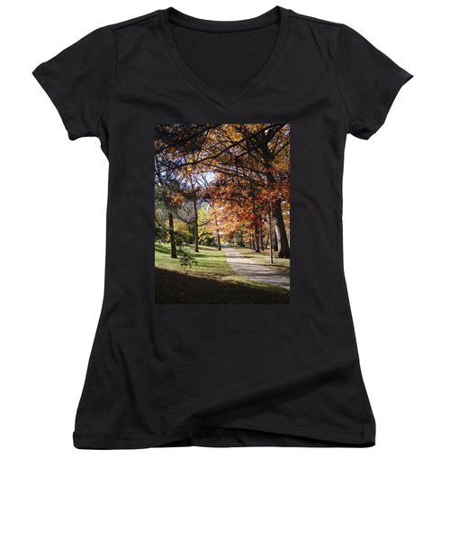 And Again Women's V-Neck T-Shirt (Junior Cut) by Joseph Yarbrough