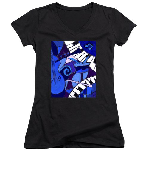 and All that Jazz 3  Women's V-Neck (Athletic Fit)