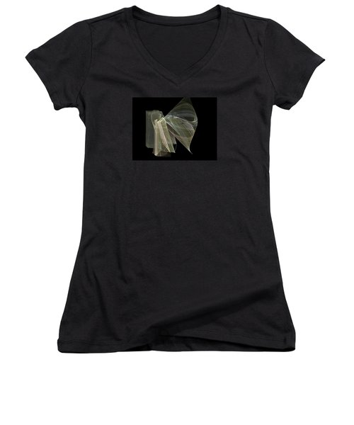And The Angel Spoke..... Women's V-Neck (Athletic Fit)