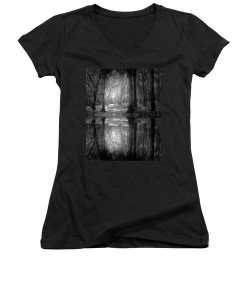 And There Is Light In This Dark Forest Women's V-Neck