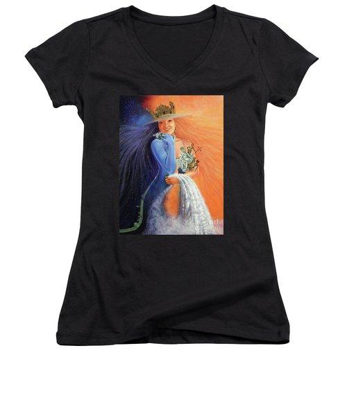 Andar La Habana' Women's V-Neck T-Shirt