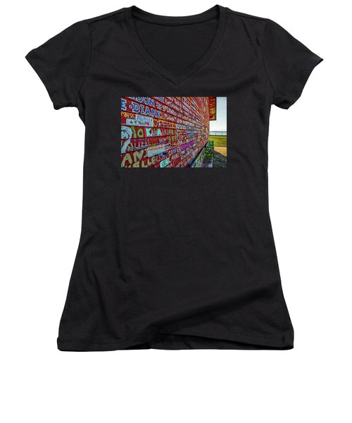 Anderson Warehouse Graffiti  Women's V-Neck