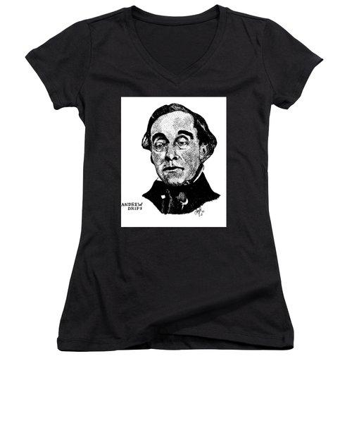 Andrew Drips Women's V-Neck T-Shirt