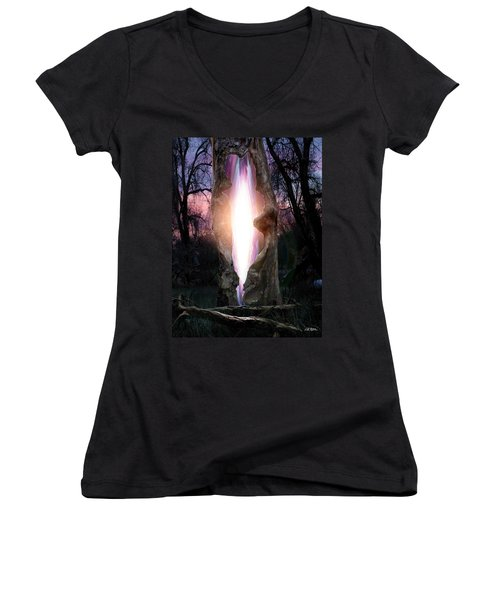 Angel In The Forest Women's V-Neck T-Shirt