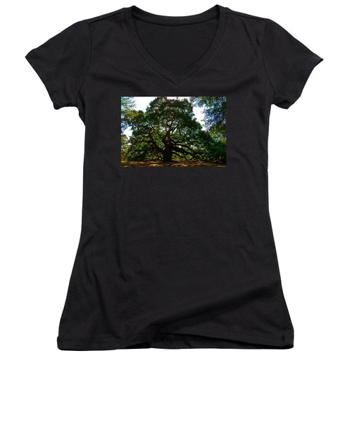 Angel Oak Tree 2004 Women's V-Neck