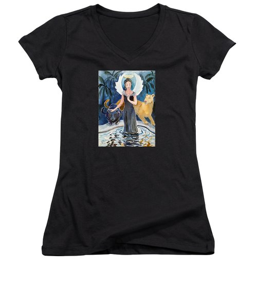 Angel Of Balance And Harmony Women's V-Neck
