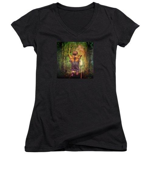 Angel Wings Women's V-Neck T-Shirt