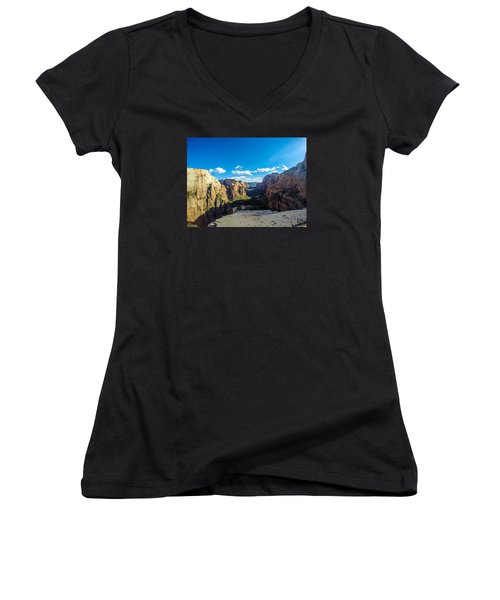 Angels Landing Women's V-Neck T-Shirt
