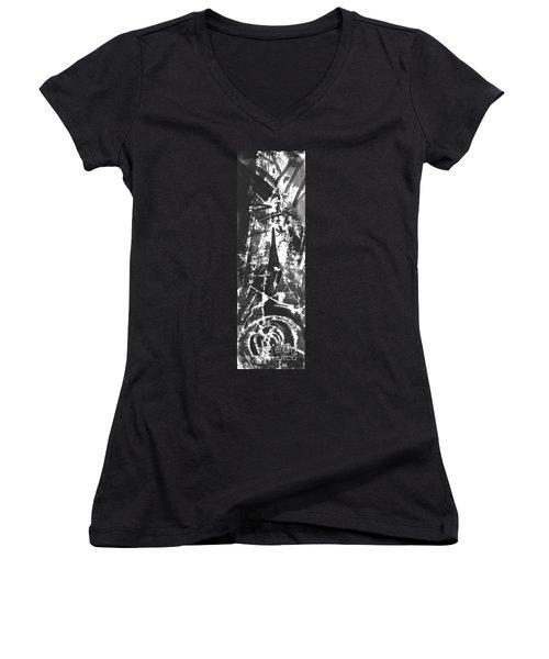 Anger Women's V-Neck T-Shirt (Junior Cut) by Carol Rashawnna Williams