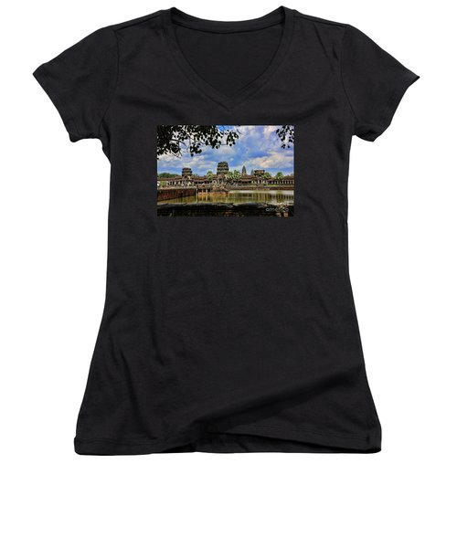 Angkor Wat Panorama  Women's V-Neck
