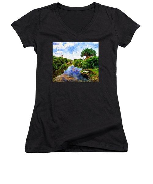 Animal Kingdom Tranquility Women's V-Neck T-Shirt