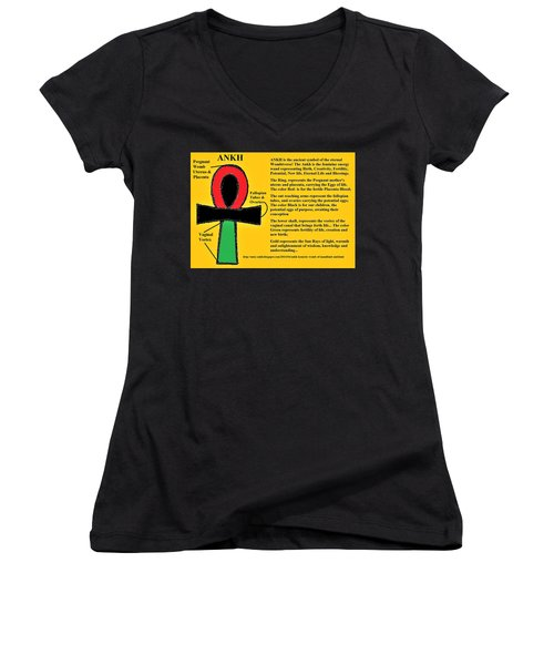 Ankh Meaning Women's V-Neck (Athletic Fit)