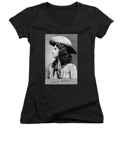Annie Oakley Profile Women's V-Neck