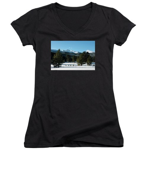Another Beautiful Day In Rocky Mountain National Park - 0612 Women's V-Neck T-Shirt