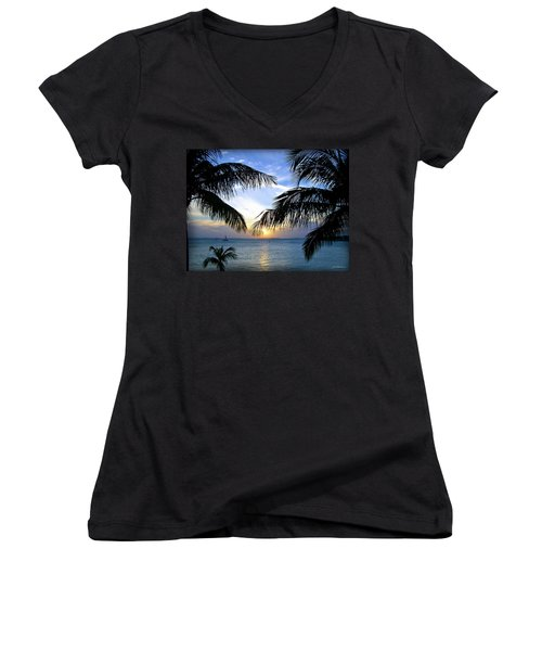 Another Key West Sunset Women's V-Neck (Athletic Fit)