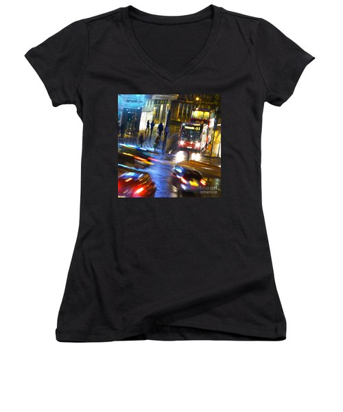 Women's V-Neck T-Shirt (Junior Cut) featuring the photograph Another Manic Monday by LemonArt Photography