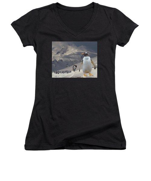 Antarctic Magesty Women's V-Neck