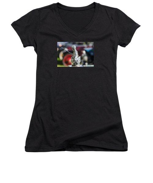 Antique Radiator Cap Women's V-Neck T-Shirt (Junior Cut) by JRP Photography