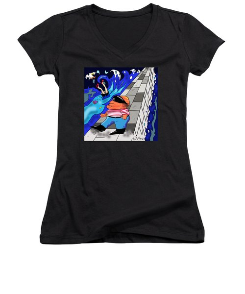 Any Port In A Storm Women's V-Neck T-Shirt