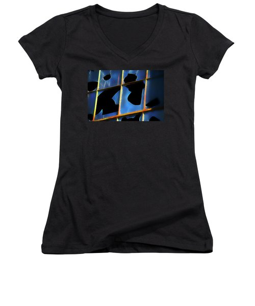 Women's V-Neck T-Shirt (Junior Cut) featuring the photograph Apocalypse 1 by Yulia Kazansky