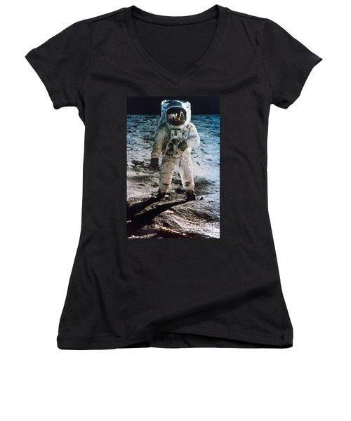 Apollo 11 Buzz Aldrin Women's V-Neck