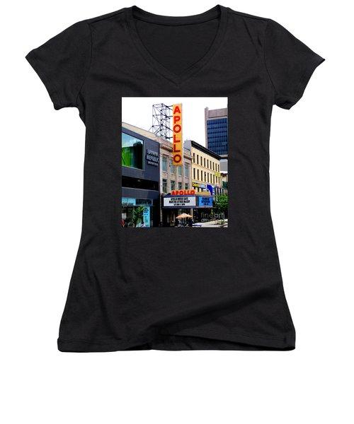 Apollo Theater Women's V-Neck T-Shirt