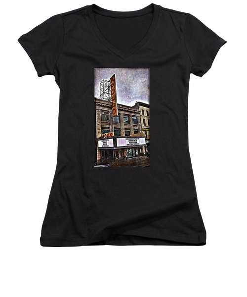 Apollo Theatre, Harlem Women's V-Neck (Athletic Fit)