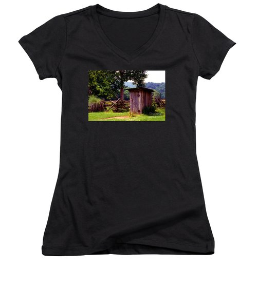 Appalachian Hill-ton Women's V-Neck T-Shirt (Junior Cut) by Paul W Faust -  Impressions of Light