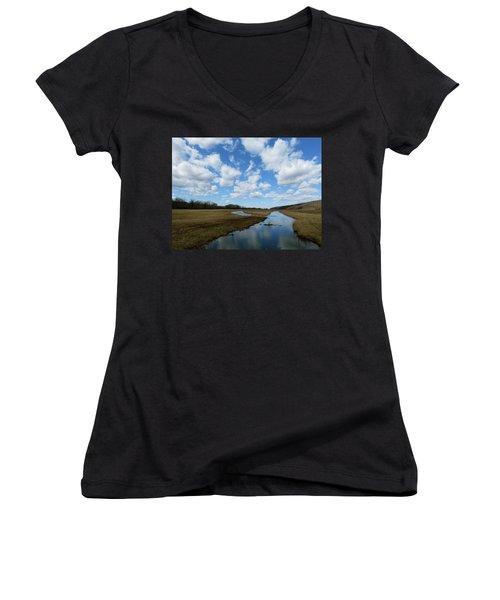 April Day Women's V-Neck T-Shirt