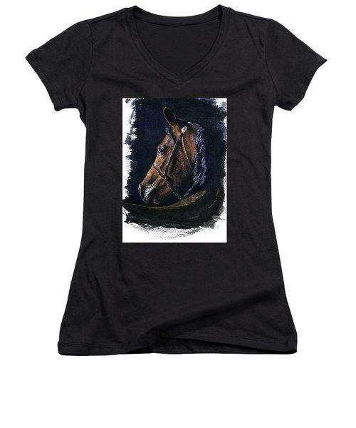 Arabian Women's V-Neck T-Shirt (Junior Cut) by John D Benson