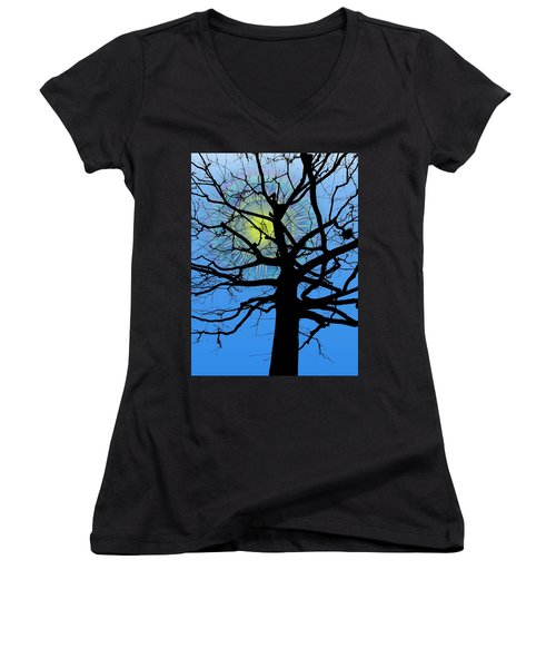 Arboreal Sun Women's V-Neck (Athletic Fit)