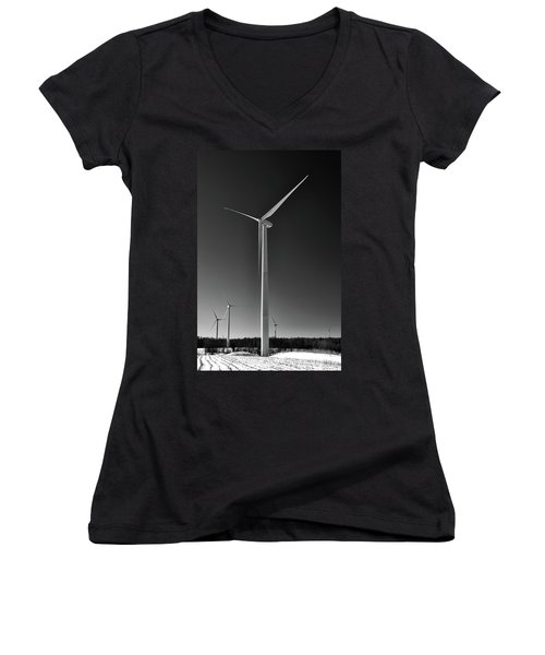 Arcade Wind Turbines 6557 Women's V-Neck