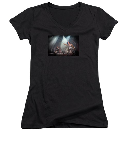 Arch Enemy Women's V-Neck T-Shirt (Junior Cut) by Stefan Nielsen