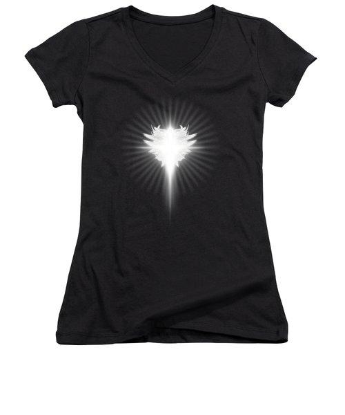 Archangel Cross Women's V-Neck T-Shirt (Junior Cut)