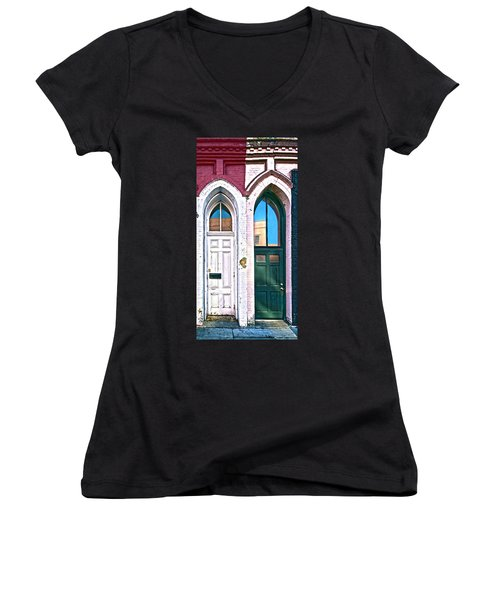 050 - Door One And Door Too Women's V-Neck