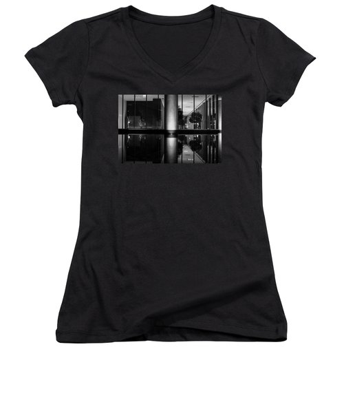Architectural Reflecting Pool Women's V-Neck (Athletic Fit)
