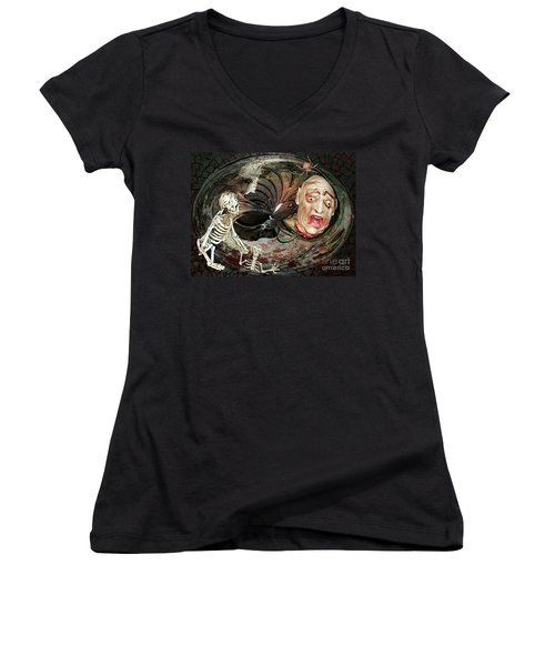 Are You Haunted Or Haunting Women's V-Neck T-Shirt