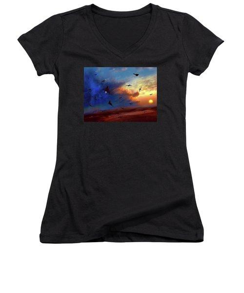 Area 51 Groom Lake Women's V-Neck T-Shirt