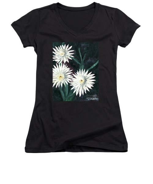 Arizona-queen Of The Night Women's V-Neck T-Shirt