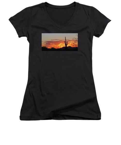 Arizona Sunset Women's V-Neck