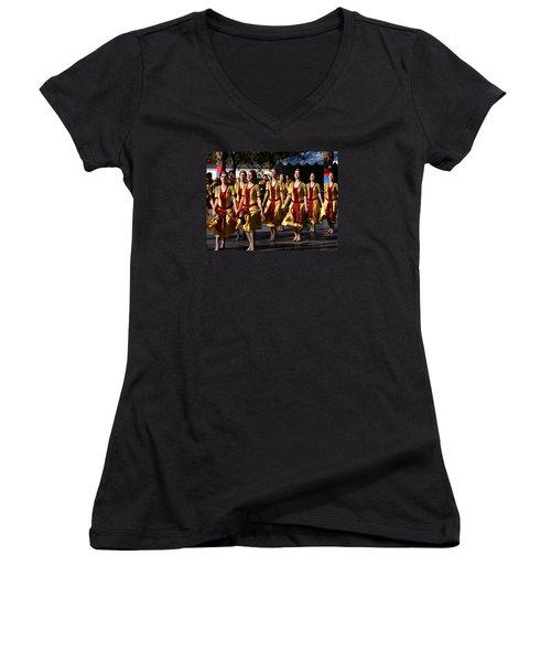 Armenian Dancers 1 Women's V-Neck (Athletic Fit)