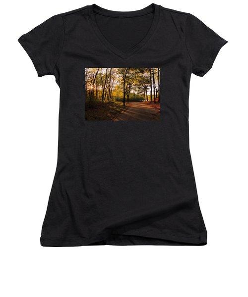 Around The Bend Women's V-Neck T-Shirt