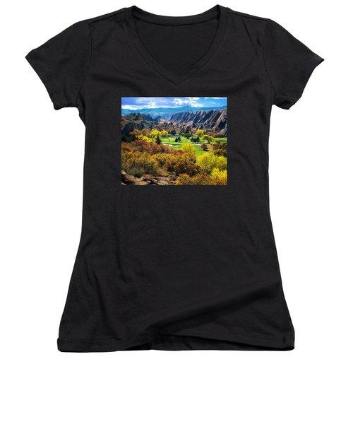 Arrowhead  Women's V-Neck T-Shirt (Junior Cut)
