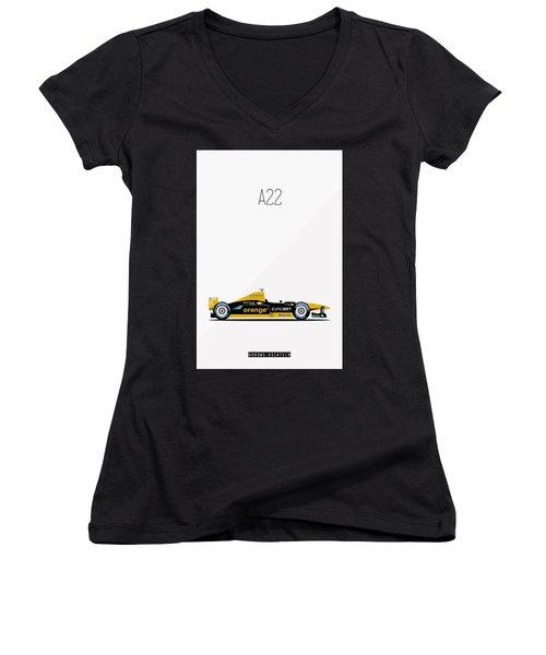 Arrows Asiatech A22 F1 Poster Women's V-Neck T-Shirt